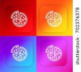 pizza four color gradient app...