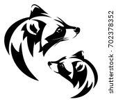 raccoon  procyon lotor  profile ... | Shutterstock . vector #702378352