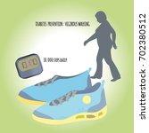 prevention of diabetes.... | Shutterstock .eps vector #702380512