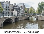 keizersgracht bridge narrow... | Shutterstock . vector #702381505