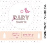 happy birthday  baby shower for ... | Shutterstock .eps vector #702381556