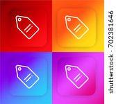 tag four color gradient app...
