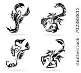 scorpio set  on white... | Shutterstock .eps vector #702383812