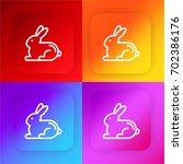 rabbit four color gradient app...