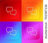 speech bubbles four color...
