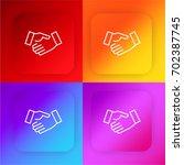 handshake four color gradient...
