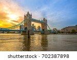 famous tower bridge in the... | Shutterstock . vector #702387898