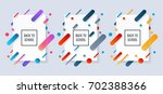 vector set of banners. colorful ... | Shutterstock .eps vector #702388366