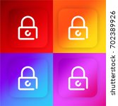 padlock four color gradient app ...