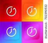 clock four color gradient app...