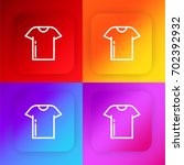 shirt four color gradient app...