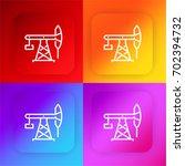 pumpjack four color gradient...