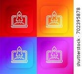startup four color gradient app ...