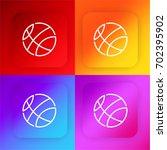 basketball four color gradient...
