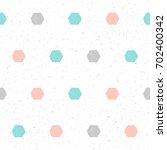 doodle hexagon seamless pattern ... | Shutterstock . vector #702400342