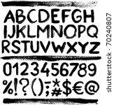 vector grunge alphabet with... | Shutterstock .eps vector #70240807