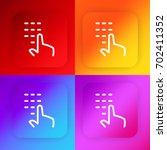 password four color gradient...