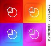 pie chart four color gradient...