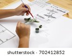 Boy Painting Plastic Model Kit...