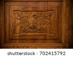 Carved Eagle On  A Panel On A...