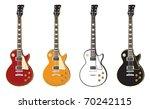 set of electric guitars | Shutterstock .eps vector #70242115