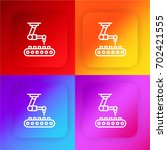 industrial robot four color... | Shutterstock .eps vector #702421555