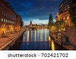 stockholm. cityscape image of... | Shutterstock . vector #702421702