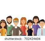 white background with half body ... | Shutterstock .eps vector #702424606