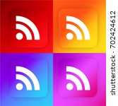 rss four color gradient app...