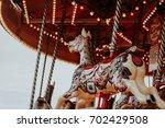 Carrousel Horses On Merry Go...