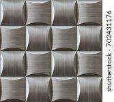 polished metal tiles pattern 3d ...   Shutterstock . vector #702431176