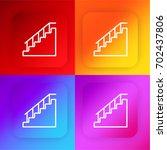 stairs four color gradient app...