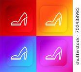 high heels four color gradient...