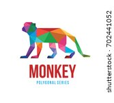 animal low poly logo icon... | Shutterstock .eps vector #702441052