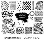 set of hand drawn design... | Shutterstock .eps vector #702447172