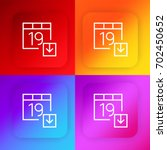 calendar four color gradient...