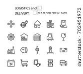 logistics and delivery vector... | Shutterstock .eps vector #702451972