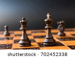 chess photographed on a chess... | Shutterstock . vector #702452338