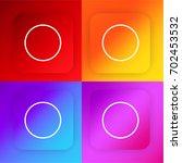 oval four color gradient app...