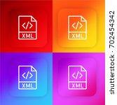 xml four color gradient app... | Shutterstock .eps vector #702454342