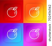 orange four color gradient app...