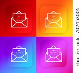 envelope four color gradient...