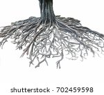 big root tree isolated. | Shutterstock . vector #702459598