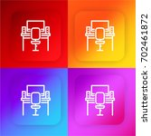 workplace four color gradient...