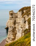 Small photo of Beach and cliffs at alabaster coast of Etretat, the Normandy, Seine-Maritime department, France
