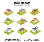 set of school university or... | Shutterstock .eps vector #702476308