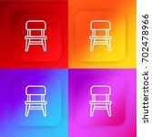 chair four color gradient app...
