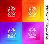 girl four color gradient app...