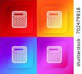 calculator four color gradient...