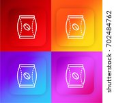 coffee bag four color gradient...